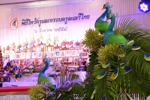 พิธีไหว้ครูดนตรีไทยเมื่อปี 2558